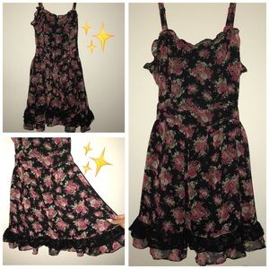 Hot Topic Floral Gothic Spring Dress